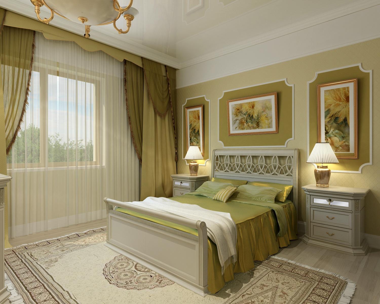 Оливковая спальня фото