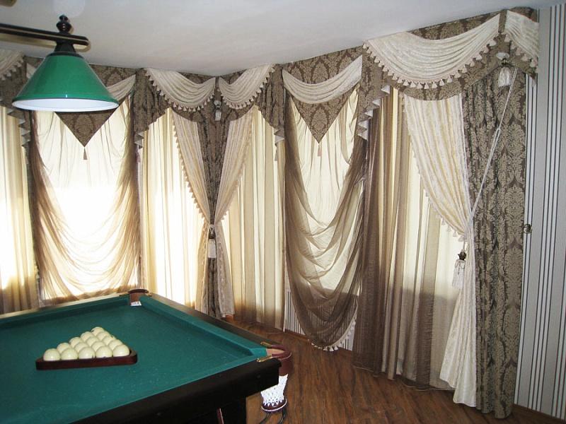 Эксклюзивные шторы для гостиной фото